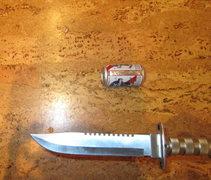 Rock Climbing Photo: yer knife