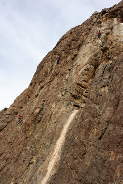 Climbers on Robust Wall.