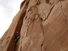 Rock Climbing Photo: Starting up the 1st pitch...