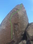 Rock Climbing Photo: Fire on the Mountain