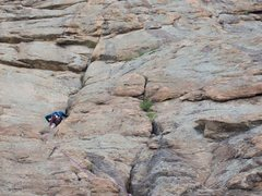 Rock Climbing Photo: Marty first pitch of HC on Davis Face. June 15, 20...