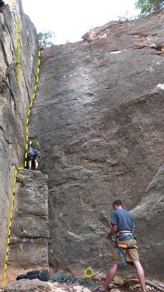 Rock Climbing Photo: Follow the crack, get personal.