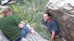 Rock Climbing Photo: Made it up with Berkie 'n' Matt.