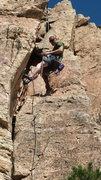 Rock Climbing Photo: Coming down.