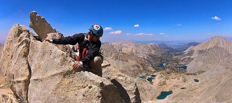 Soloing atop Bear Creek Spire
