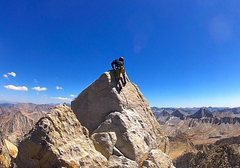 Rock Climbing Photo: 5.7 summit move on BCS