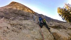 Rock Climbing Photo: West Crack crux moves (down low)