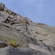 Rock Climbing Photo: Mike Arechiga on,Hot Pink Socks. 5.9