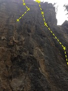 Rock Climbing Photo: View of Furcious and an Unnamed route to the left