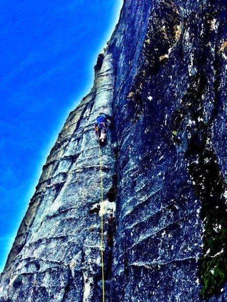Rock Climbing Photo: P3 above the bowl