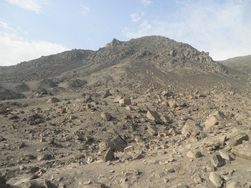 Looking Northeast, towards the boulder field.