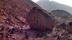 Rock Climbing Photo: East face of the Amigos Mas boulder, here's where ...