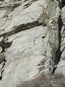 Rock Climbing Photo: Frostfangs follows the features right trending.