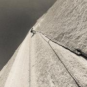 Rock Climbing Photo: Another beautiful splitter half way up Lurking Fea...