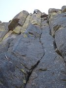 Rock Climbing Photo: Hutch leading The Arete Acal