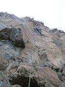 Rock Climbing Photo: Nathan Scherneck stems mid way on Prometheus.  Pho...