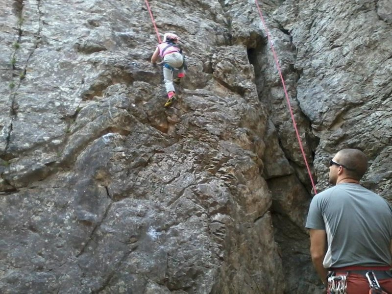 2 year old climbing the 5.7
