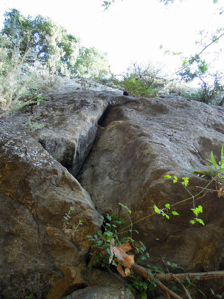 "Rock Climbing Photo: The start of ""That Bastard Gerard"" on th..."