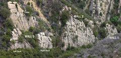 Rock Climbing Photo: The first three walls at Panic Town.