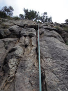 Rock Climbing Photo: Want finger cracks? The cleaned upper section to t...