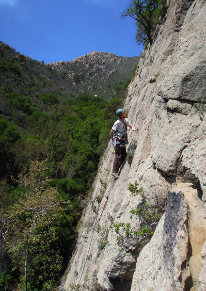 Mark Buntaine considering gear after the flared section.