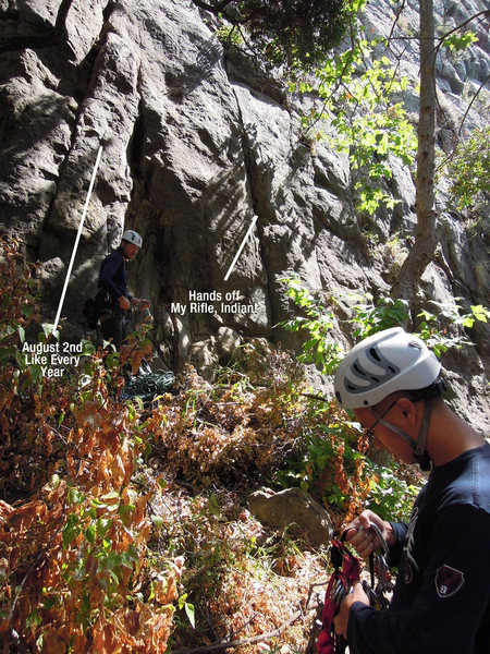 "Rock Climbing Photo: The starts for ""August 2nd"" and ""Ha..."