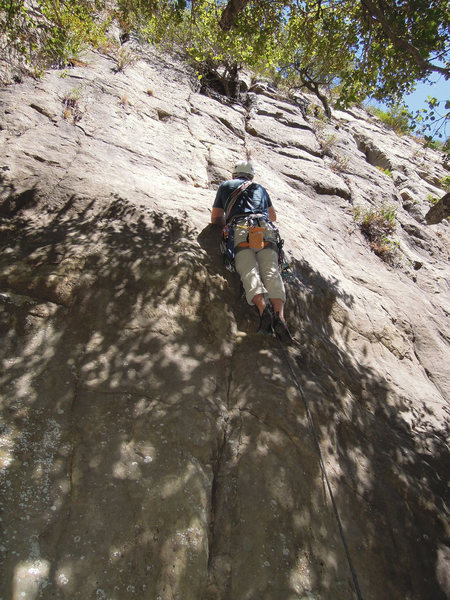 "Rock Climbing Photo: Chris Wing on the start of ""What Dumbasses!&q..."