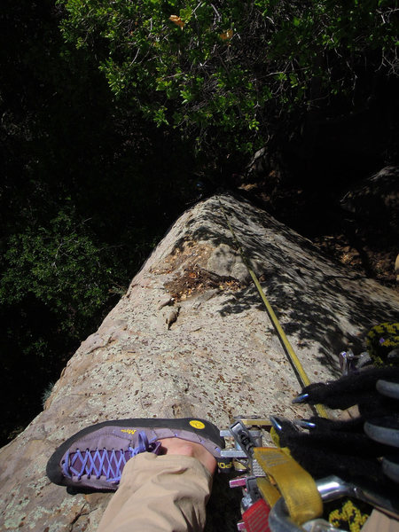 Rock Climbing Photo: After transitioning to the arete and almost to the...