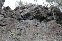 Rock Climbing Photo: At the top of Shock & Awe. Runners help to  reduce...