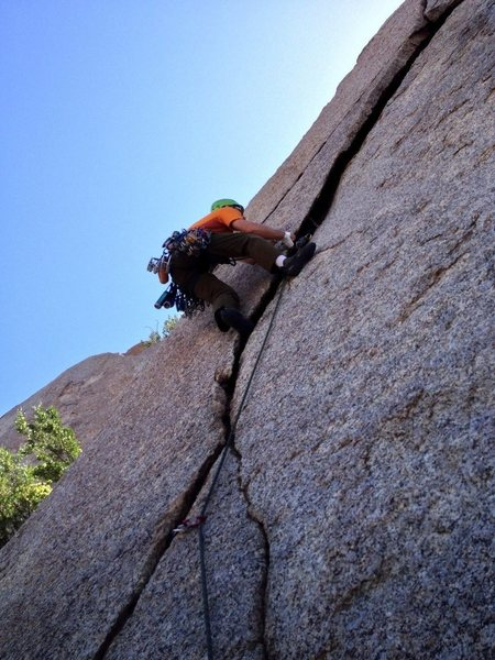 Rock Climbing Photo: Getting busy in the crux area