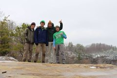 Rock Climbing Photo: RRG rest day with the crew!  Left to right: Me, Do...