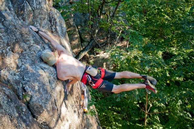 "Rock Climbing Photo: ""You should try my beta."" Flagging on le..."