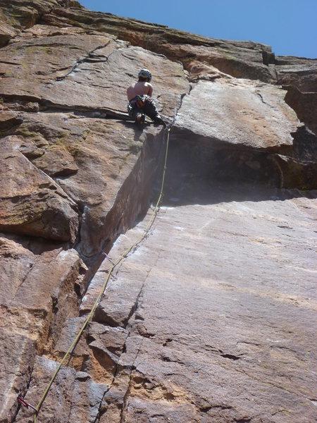 Rock Climbing Photo: Matt, just before the crux.