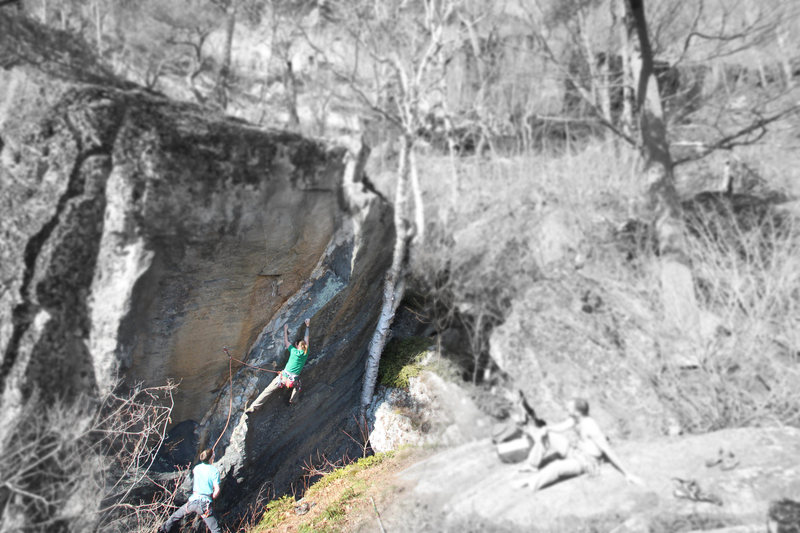 Rock Climbing Photo: Mike figuring out The Prawn... i like this climb w...
