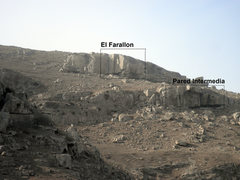 Rock Climbing Photo: The two most prominent cliff bands: El Farallon an...