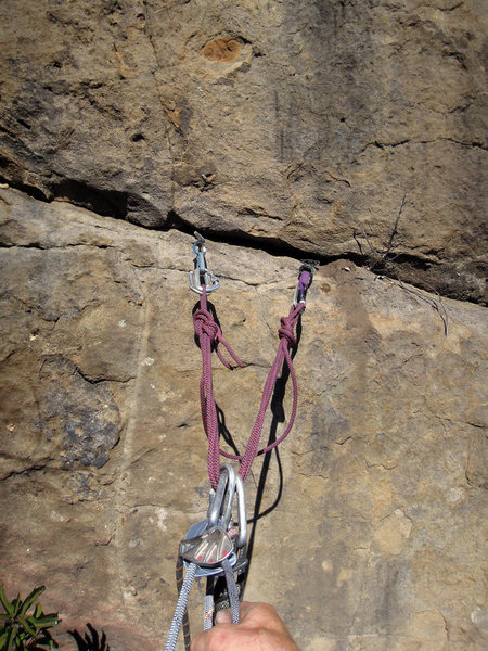 Rock Climbing Photo: One anchor option.