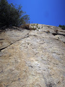 Rock Climbing Photo: Looking up at P2. Take the thin crack up.