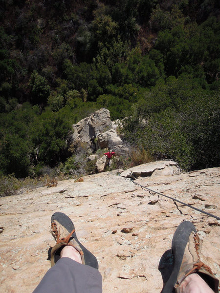 "Rock Climbing Photo: Looking down from the top of ""Shark Ride&quot..."