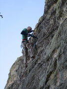 Rock Climbing Photo: Putting in the anchors.