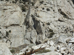 Rock Climbing Photo: The whole G.o.T Crag taken from the mini talus fan...