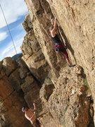 Rock Climbing Photo: Staci starting.