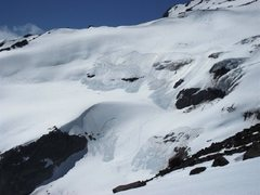 Rock Climbing Photo: avy on rainier...the little dots at the base are u...