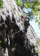 "Rock Climbing Photo: Phil getting in the zone on the FA of ""MRTC&q..."