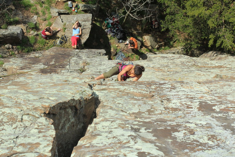 Awesome Trad Route<br> Climber: Mclane Moody<br> Photographer: Anthony Johnson