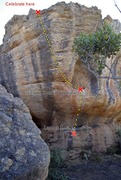 Rock Climbing Photo: A perfect overview of the problem. Image credit: 2...
