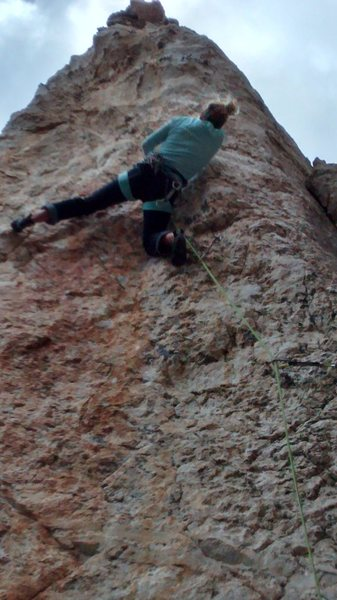 Rock Climbing Photo: Josie beta on the Thief step #1