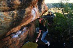 Rock Climbing Photo: Markus Eder sticking it. Credit:fiveten.com