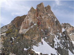 Rock Climbing Photo: Top pitch (pitch 6) of Enter the Dragon/Old Route....
