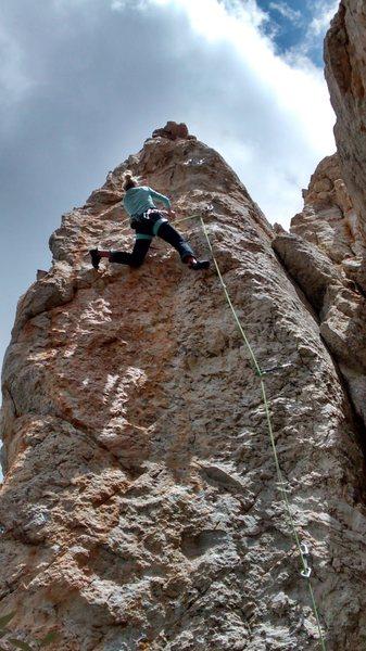 Rock Climbing Photo: Josie beta on the Thief step #2