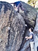 Rock Climbing Photo: Myself topping out The Barefoot Sharma Problem